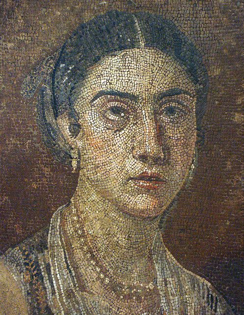 Roman portrait from Pompeii in the Museo di Capodimonte