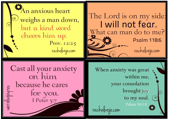 †~ FREE Printable: 8 Scripture Verse Cards to Fight Against Anxiety. ~†