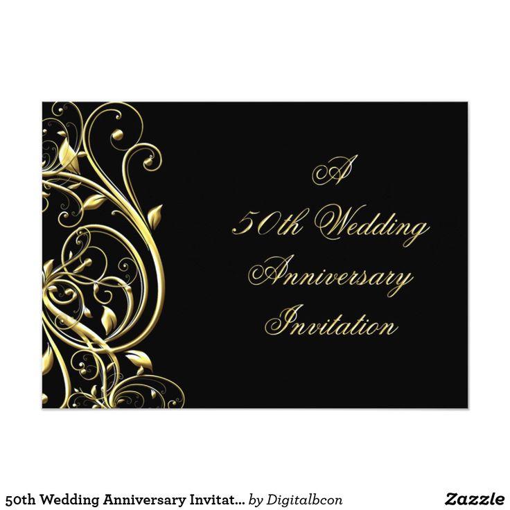 50th Wedding Anniversary Invitation 13 best invitations