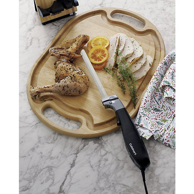 Wooden Meat Carving Board   Crate and Barrel - for meat