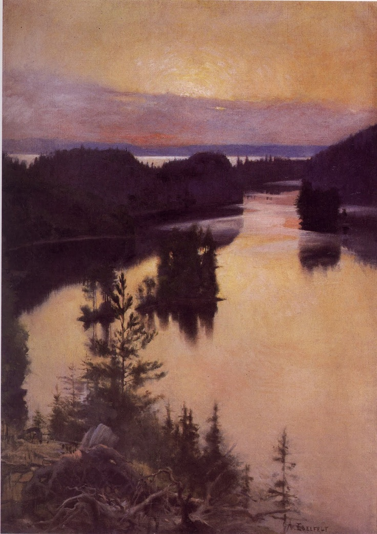 Albert Edelfelt, Kaukola Ridge at Sunset, 1889  enjoyed @ginny gunter