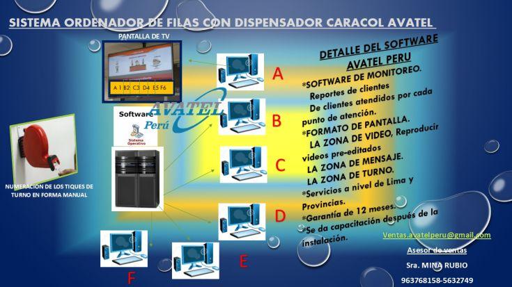 SISTEMAS DE FILAS CON DISPENSADOR  CARACOL PARA TV, anuncio
