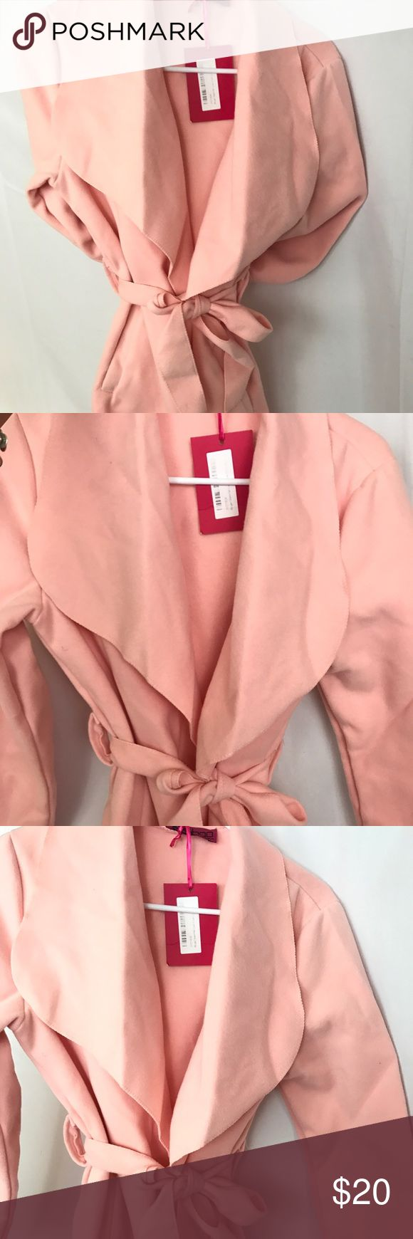 Pink waterfall trench coat Link waterfall trench coat. Never been worn, tags still intact Boohoo Jackets & Coats Trench Coats