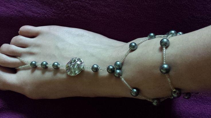 Très joli bijoux de pied en perles : Bracelet par creatifnadia