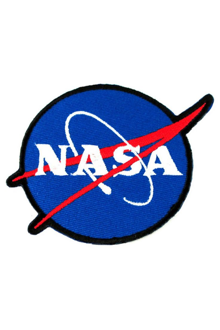 To the moon and back... Blue NASA logo on an iron on patch. 4 inch diameter. Iron on backing, but we recommend sewing the edges for a secure fit.