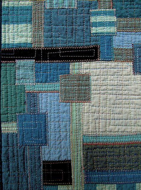 Boro Blues # 2 - Detail by Victoria Gertenbach