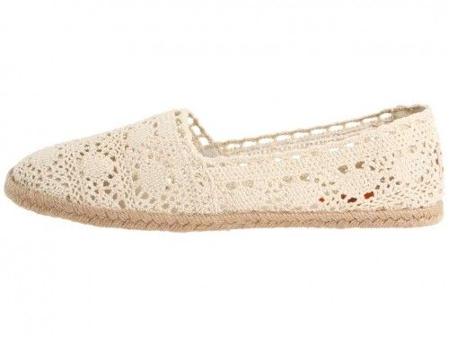 Chillout Crochet Cotton Shoes with a Rubber and Jute Sole