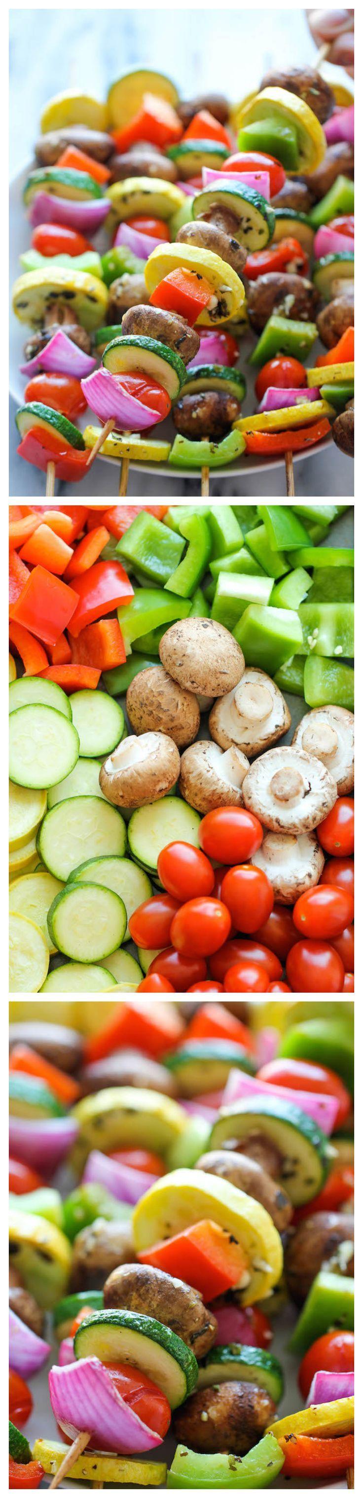 Vegetable Kabobs Recipe Veggie Kabobs