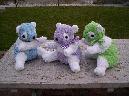 Chenille Panda Bear stuffed animal toy by OliveStreetStudio, $50.00