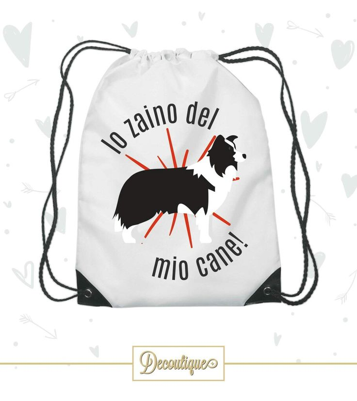 SACCA PORTAOGGETTI BORDER COLLIE #bordercollie #dog #animali #puppy Codice: SCC015 Prezzo: 7,00 € Spedizione in Italia: 6,00 €  Per prenotare la tua Sacca contattaci in privato o all'indirizzo email info@decoutique.it Personalizza la tua Sacca con lo stile più adatto a te. Affidati a noi per la tua proposta grafica!