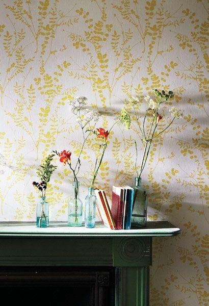 Florale Tapete Salvia Von Harlequin