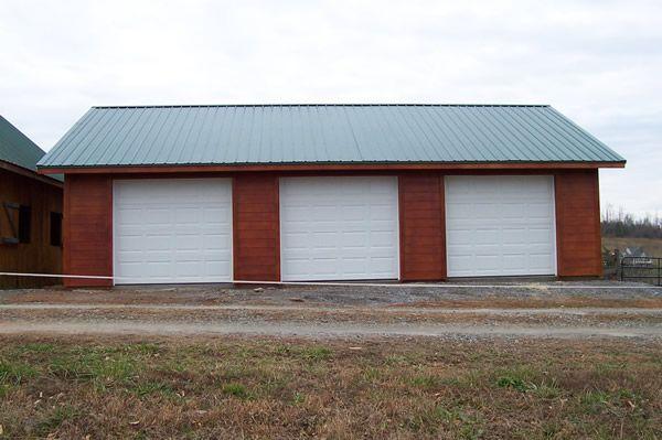 70 best garages images on pinterest garage garage house for Metal 3 car garage