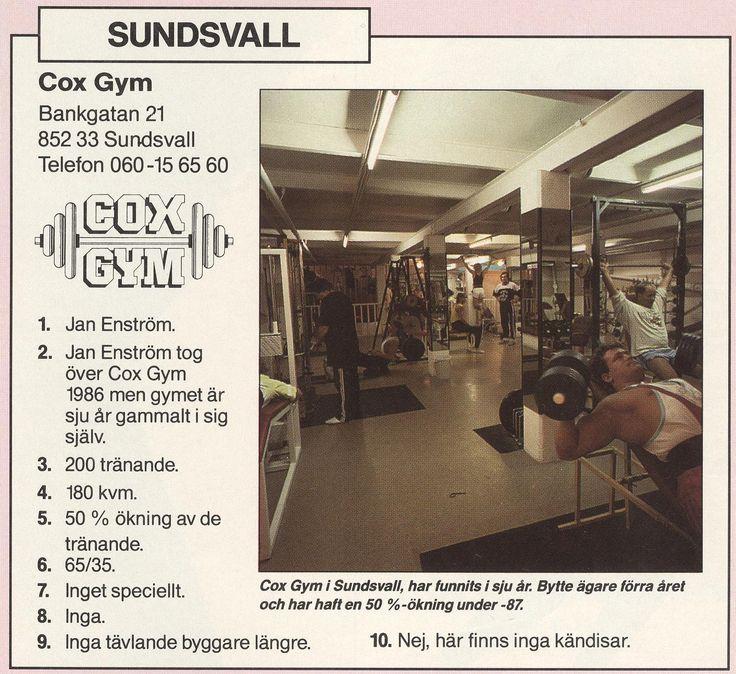 Sweden Sundsvall - Cox Gym 1987