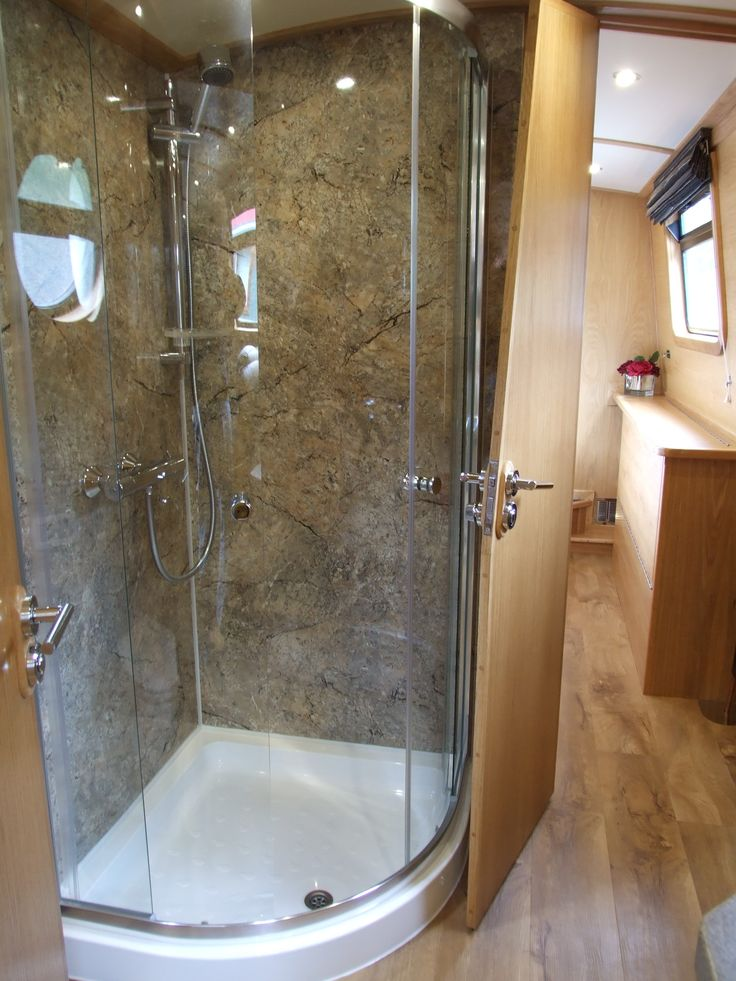 narrowboat shower doors duschwndeduschtrenbootsinterieurduschabtrennung duschenjachtengranitwannenschiffe - Granit Ruckwand Dusche