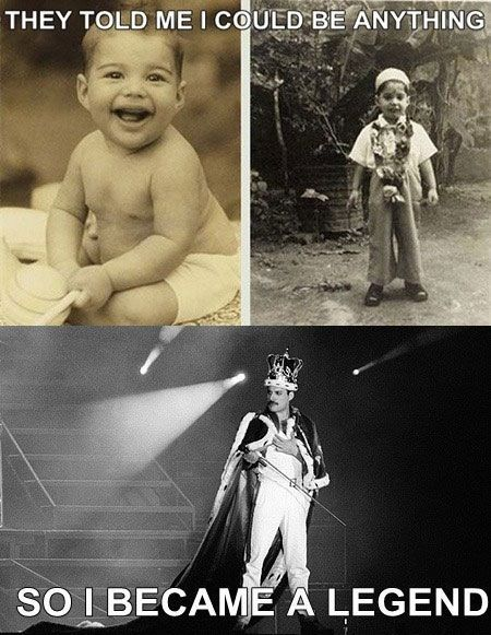 Freddie Mercury - whether you agree with his lifestyle or not, you can't deny that he was a music icon.