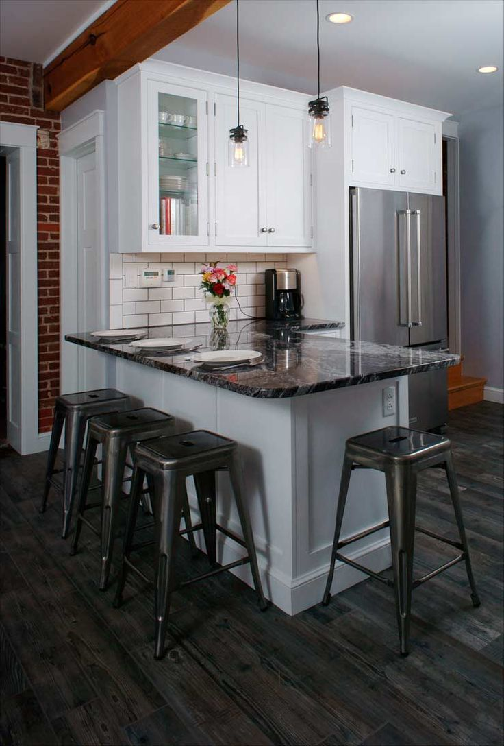 Edgy Barstools Add Flair To This Classic White Kitchen. Traditional White  Kitchen In Allentown, Part 90