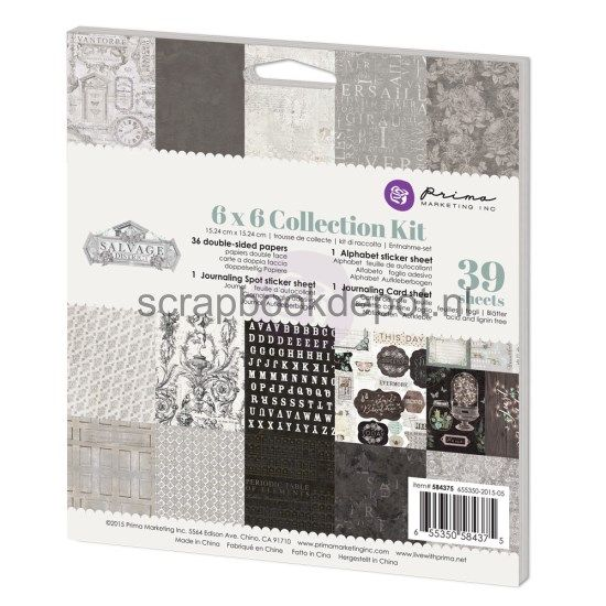 Prima Marketing Salvage District - Collection Kit 6x6inch