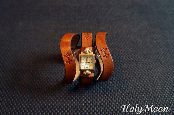 HolyMoon. Ремешок для часов из натуральной кожи.