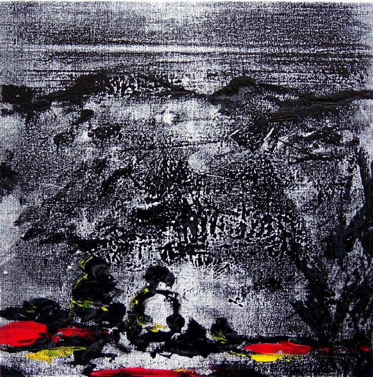 """Gabriele Camilli -  Title : """"Solitudine"""" - Personal technique: Cromomonotipo su tela  - Dimension : cm 50 x 50 - Year : 2014"""