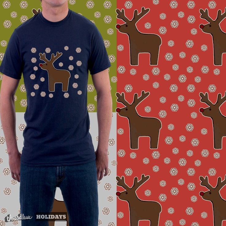 """Check out my new design submission """"Christmas deer! """" on @threadless https://www.threadless.com/designs/christmas-deer"""