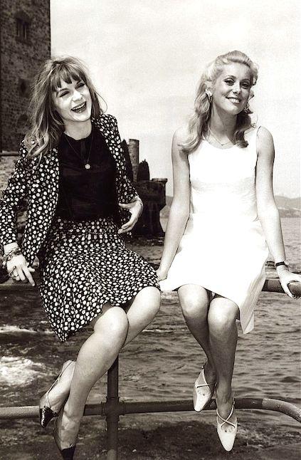 Françoise Dorléac & Catherine Deneuve at Cannes Film Festival, May 1965.