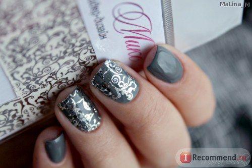 Наклейки для ногтей АртМикс Слайдер-дизайн С МЕТАЛЛИЧЕСКИМ БЛЕСКОМ  фото