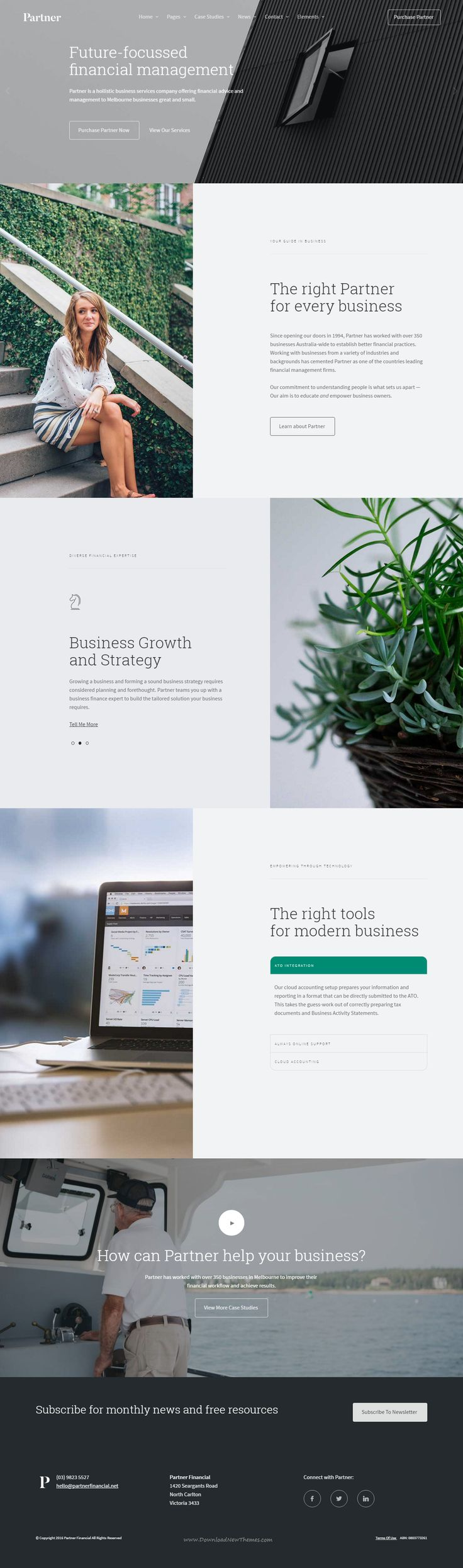 Professional Accounting, Financial and Law Firm Website Template with Variant Page Builder Download