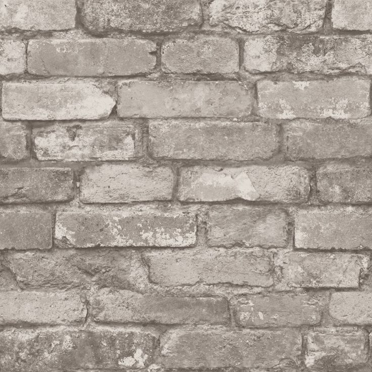 Rustic Brick Wallpaper Silver / Grey (ILW980058)