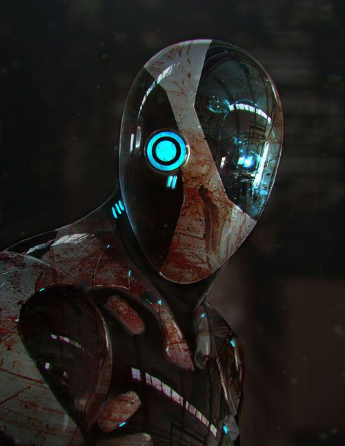 Sci-fi Fantasy Horror by Frankie Perez Sci-fi robots never get old..!