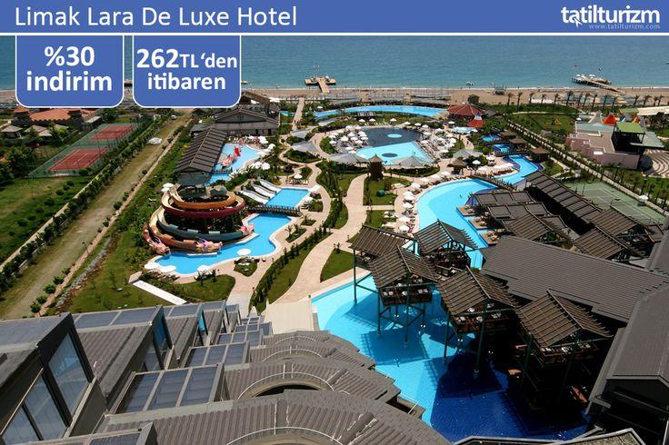 """""""Ultra Her Şey Dahil"""" konseptiyle Limak Lara De Luxe Hotel 262 TL'den başlayan avantajlı fiyatlarıyla sizi bekliyor. Üstelik 0 - 14 yaş 2 çocuk ücretsiz…"""