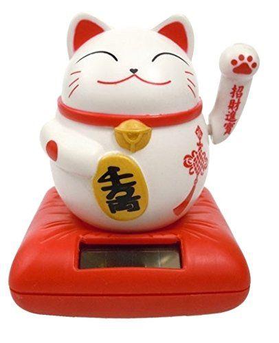 chat chinois porte bonheur rouge