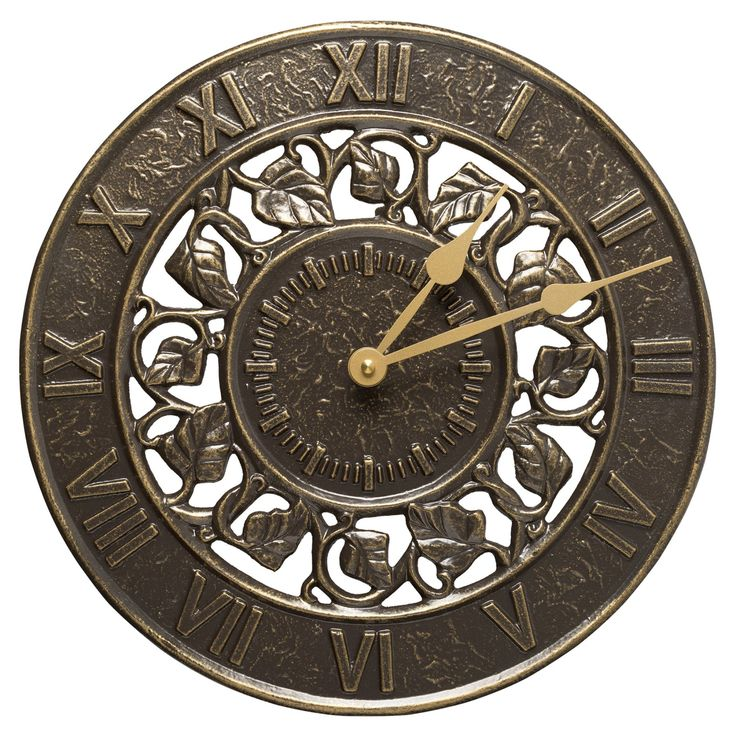 Ivy Silhouette 12 in. Outdoor Wall Clock - 01834
