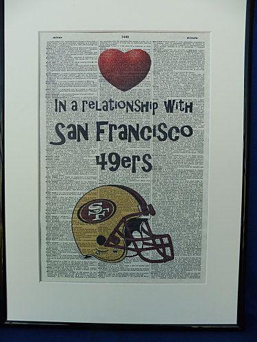 San Francisco 49ers Football Team Wall Art Print by DecorisDesigns