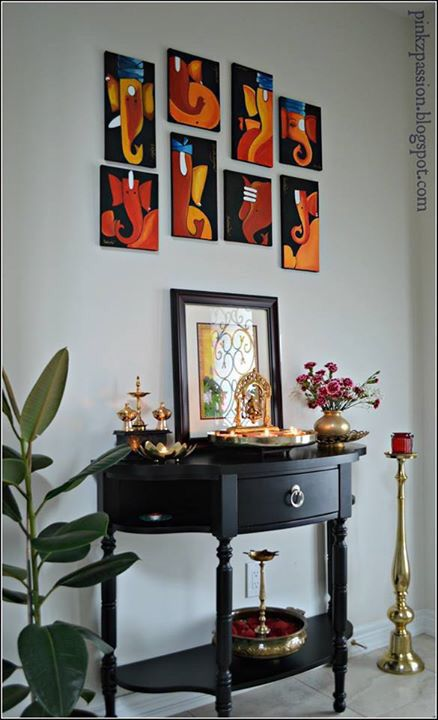 Wall ganesha painting lord ganesha paintings pinterest for Indian inspired home decor