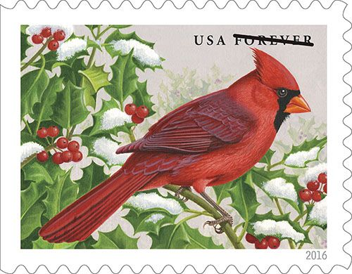 New songbirds stamps feature N.C. state bird, the cardinal