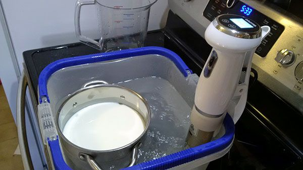 How to Make Ricotta with Your Sous Vide Circulator