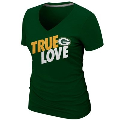 Nike Green Bay Packers Ladies True Love Premium T-Shirt - Green