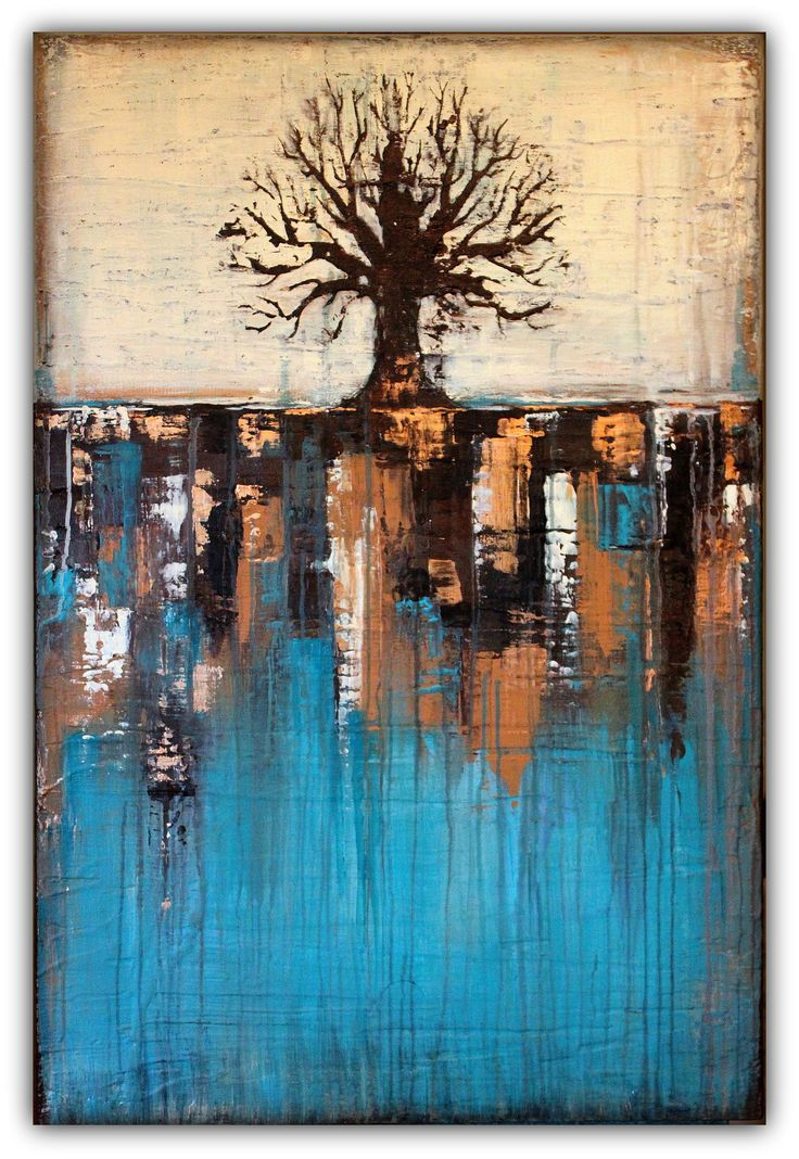 25 best ideas about abstract trees on pinterest two for Textured abstract art techniques