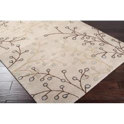 Hand-tufted Houston Floral Floral Wool Rug (10' x 14') | Overstock.com