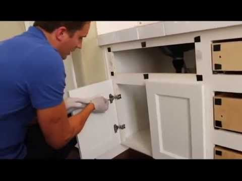 Reface and change a partial overlay cabinet with a full overlay cabinet door. Create a flush appearance on an outdated cabinet to enhance the look and gain a...