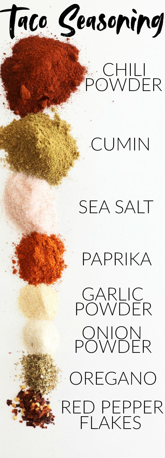 Ditch store bought taco seasoning packets and make your own! Enjoy this super fun and easy DIY homemade taco seasoning recipe! thetoastedpinenut.com #taco #tacoseasoning #healthy #diy #homemade #recipe