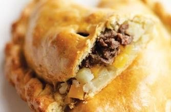 Hairy Bikers' The People's Cornish Pasty #pastry #savory_bite #mince #beef #egg_yolk #turnip