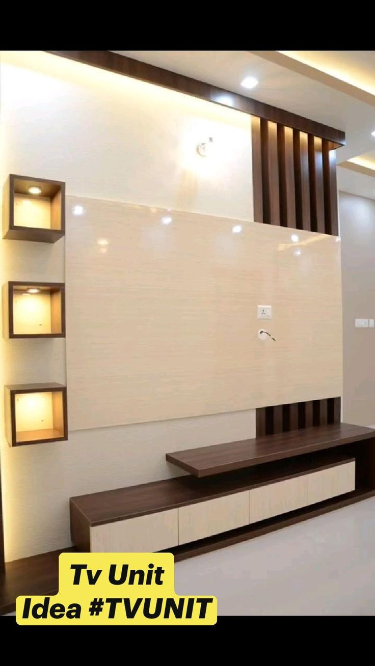 Tv Unit Interior Design, Tv Unit Furniture Design, Small House Interior Design, Bedroom Furniture Design, Living Room Partition Design, Room Door Design, Room Design Bedroom, Home Room Design, Tv Wall Design