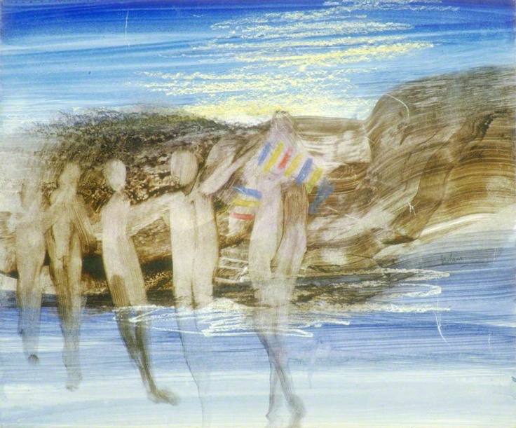 Figures on a Beach by Sidney Nolan