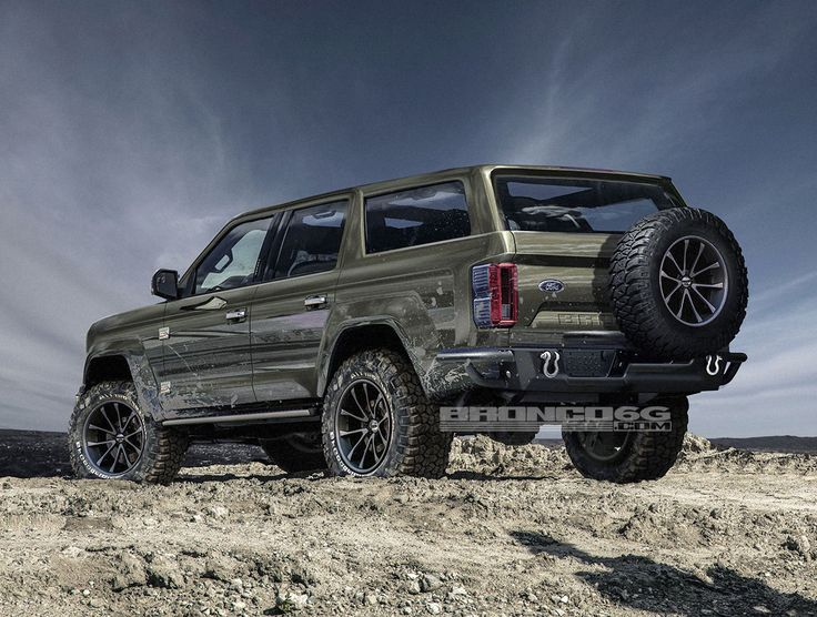 Rendering of concept of what 2020 4 door Bronco could look like.  http://www.tflcar.com/2017/07/2020-ford-bronco-four-door-design-air-roof-concept/2020-ford-bronco-4door-render-8/