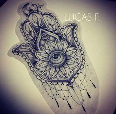 Beautiful intricate Hamsa hand design