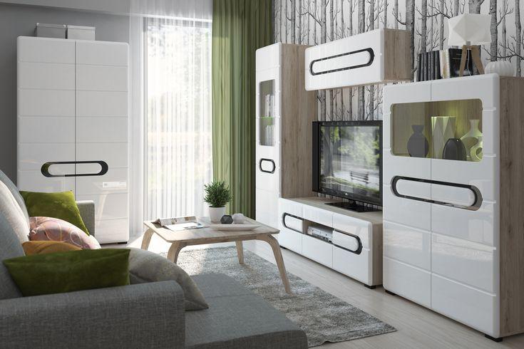 Byron - pokój dzienny Black Red White #nowoczesne #new #meble #furniture #ideas #inspiration #pomysł #livingroom #salon #modern #interior