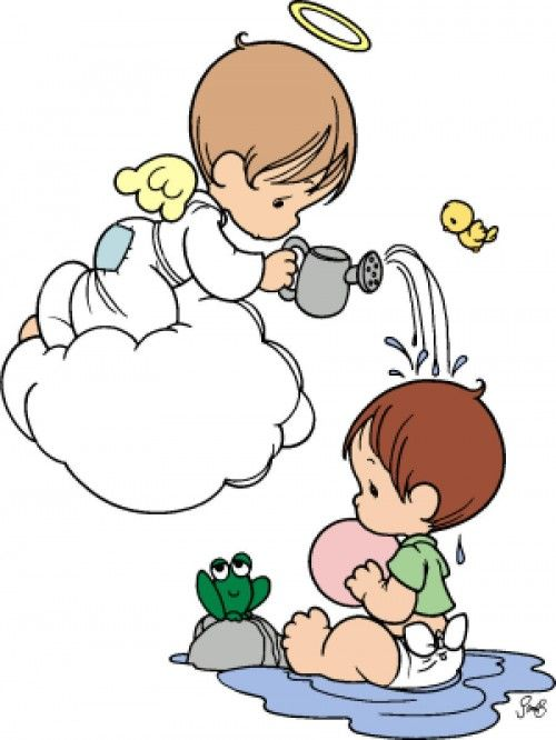 Angelitos de bautizo de niña dibujo - Imagui | Anjinhos ...