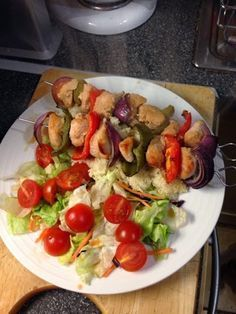 Vicki-Kitchen: Sticky chicken kebabs (slimming world friendly)