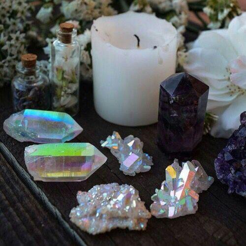 Aura Quartz in a Sacred Space  // Crystal Fairy Vibes